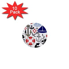 Nautical Collage 1  Mini Button (10 Pack) by StuffOrSomething