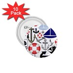 Nautical Collage 1.75  Button (10 pack)