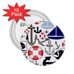 Nautical Collage 2.25  Button (10 pack)