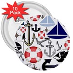 Nautical Collage 3  Button (10 pack)