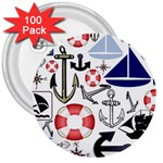 Nautical Collage 3  Button (100 pack)