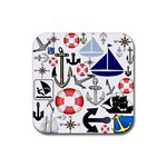 Nautical Collage Drink Coaster (Square)