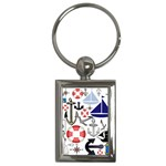 Nautical Collage Key Chain (Rectangle)