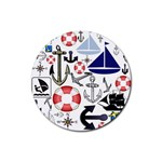 Nautical Collage Drink Coaster (Round)