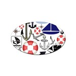 Nautical Collage Sticker (Oval)