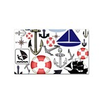 Nautical Collage Sticker (Rectangle)