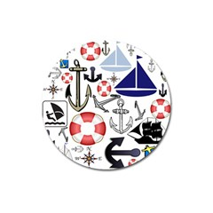 Nautical Collage Magnet 3  (round) by StuffOrSomething