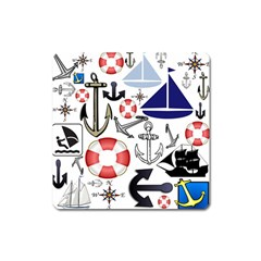 Nautical Collage Magnet (square) by StuffOrSomething