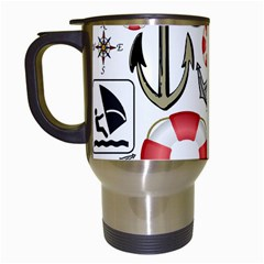 Nautical Collage Travel Mug (white) by StuffOrSomething