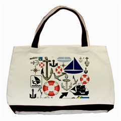 Nautical Collage Classic Tote Bag by StuffOrSomething