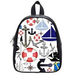 Nautical Collage School Bag (Small) by StuffOrSomething
