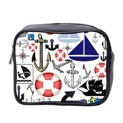 Nautical Collage Mini Travel Toiletry Bag (two Sides) by StuffOrSomething