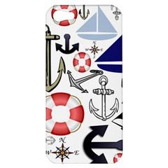Nautical Collage Apple Iphone 5 Hardshell Case