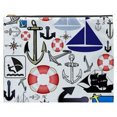 Nautical Collage Cosmetic Bag (XXXL) by StuffOrSomething