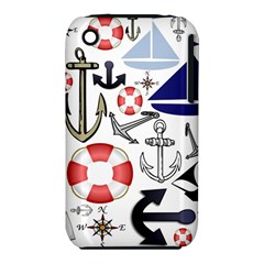 Nautical Collage Apple Iphone 3g/3gs Hardshell Case (pc+silicone) by StuffOrSomething