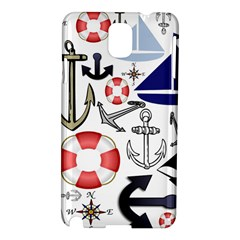 Nautical Collage Samsung Galaxy Note 3 N9005 Hardshell Case by StuffOrSomething