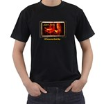 SatedFaery - Men s T-Shirt (Black) (Two Sided)