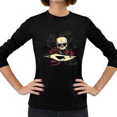 Cards Player Women s Long Sleeve T Shirt (dark Colored) by Contest1865818