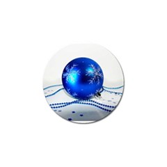 Blue Christmas Ornament with Beads and Stars Golf Ball Marker by DesignMonaco