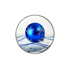 Blue Christmas Ornament with Beads and Stars Hat Clip Ball Marker (10 pack) by DesignMonaco