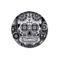 Sugar Skull Drink Coaster (round) by Ancello