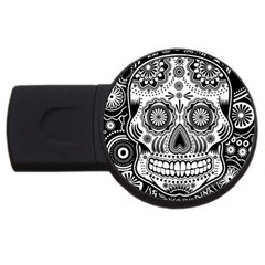 Sugar Skull 2gb Usb Flash Drive (round) by Ancello