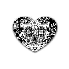 Sugar Skull Drink Coasters (heart) by Ancello