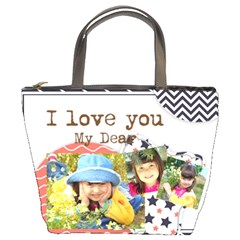 Kids By Kids   Bucket Bag   J5p49a7ce52c   Www Artscow Com Front