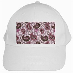 Paisley In Pink White Baseball Cap by StuffOrSomething