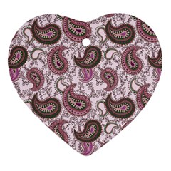 Paisley In Pink Heart Ornament by StuffOrSomething