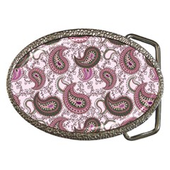 Paisley In Pink Belt Buckle (oval)