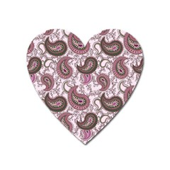 Paisley In Pink Magnet (heart) by StuffOrSomething