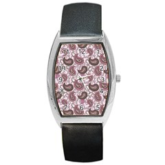 Paisley In Pink Tonneau Leather Watch by StuffOrSomething