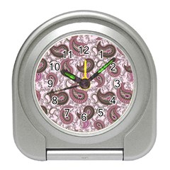 Paisley In Pink Desk Alarm Clock