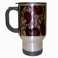 Paisley In Pink Travel Mug (silver Gray) by StuffOrSomething