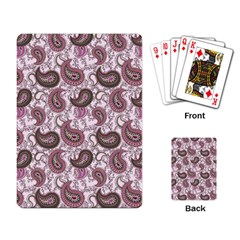 Paisley In Pink Playing Cards Single Design by StuffOrSomething