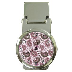 Paisley in Pink Money Clip with Watch
