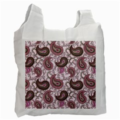 Paisley In Pink Recycle Bag (one Side)