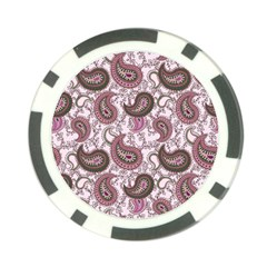 Paisley In Pink Poker Chip (10 Pack) by StuffOrSomething