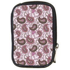 Paisley In Pink Compact Camera Leather Case by StuffOrSomething