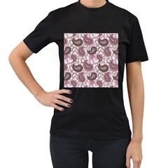 Paisley In Pink Women s T Shirt (black) by StuffOrSomething