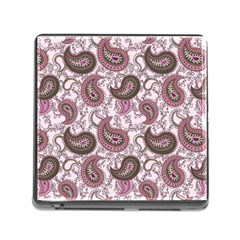 Paisley In Pink Memory Card Reader With Storage (square)