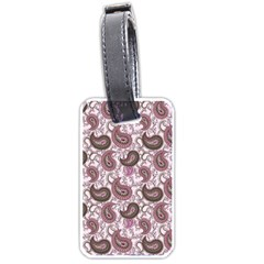 Paisley In Pink Luggage Tag (two Sides) by StuffOrSomething