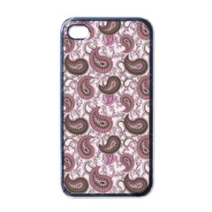 Paisley In Pink Apple Iphone 4 Case (black) by StuffOrSomething