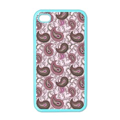 Paisley In Pink Apple Iphone 4 Case (color) by StuffOrSomething