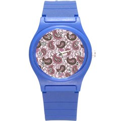 Paisley In Pink Plastic Sport Watch (small) by StuffOrSomething