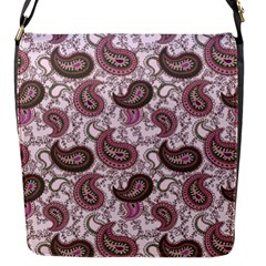 Paisley In Pink Flap Closure Messenger Bag (small) by StuffOrSomething
