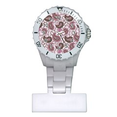 Paisley In Pink Nurses Watch by StuffOrSomething
