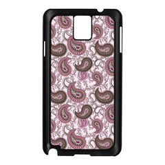 Paisley In Pink Samsung Galaxy Note 3 Case (black) by StuffOrSomething