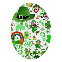 St Patrick s Day Collage Oval Ornament by StuffOrSomething